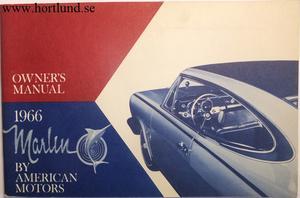 1966 AMC Marlin Owner's Manual