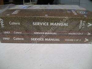 1997 Cadillac Catera Service manual 3 book set