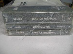 1998 Cadillac Seville Service Manual 3 book set