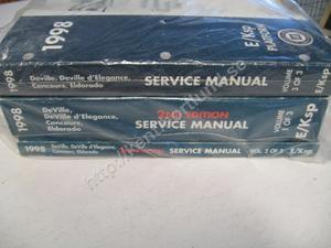 1998 Cadillac Deville, Deville d' Elegance, Concours, Eldorado Service Manual 3 book set