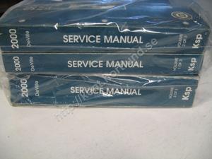 2000 Cadillac Deville Service manual 3 book set