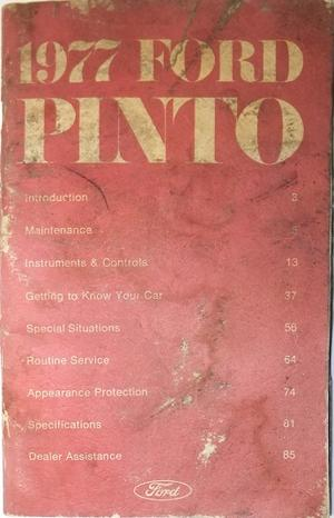 1977 Ford Pinto Owners Manual
