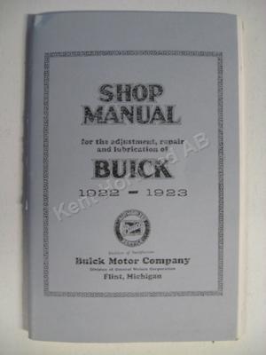 1922-23 Buick Shop Manual