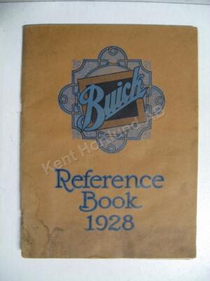 1928 Buick Reference book original