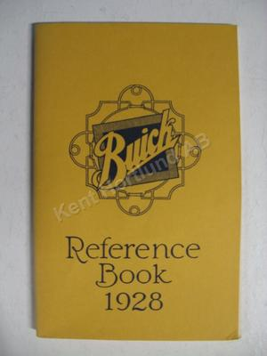1928 Buick Reference book