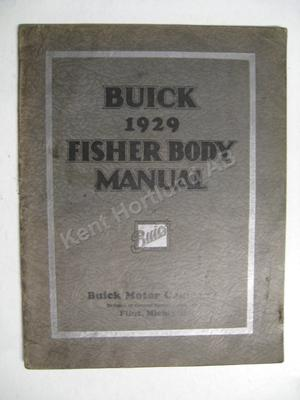 1929 Buick Fisher Body Manual