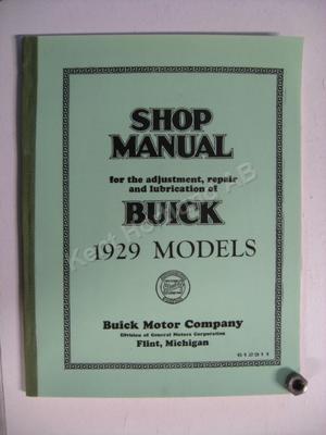 1929 Buick Shop Manual