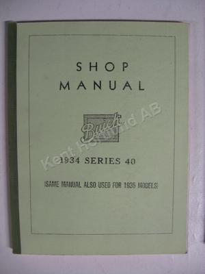 1934-1935 Buick series 40 Shop Manual