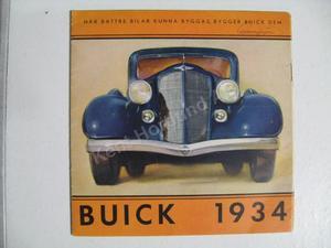 1934 Buick Broschyr Svensk