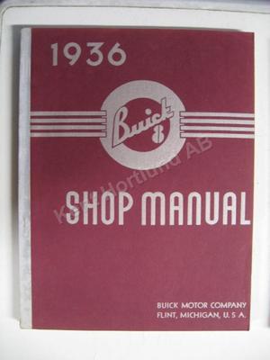 1936 Buick 8 Shop Manual original