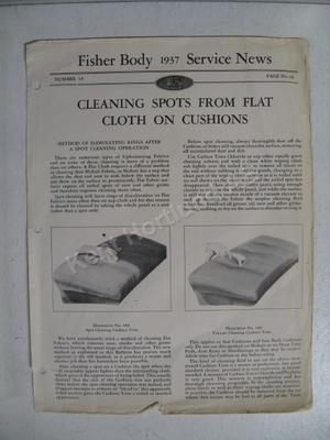 1937 Fisher Body Service News