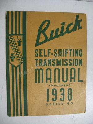 1938 Buick series 40 Self-Shifting Transmission Manual supplement