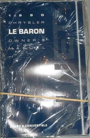 1990 Chrysler Le Baron Owner's Manual