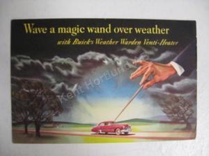 1946 Buick magic wand försäljningsbroschyr