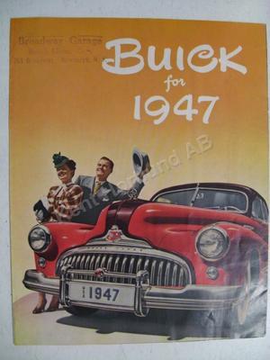 1947 Buick  broschyr