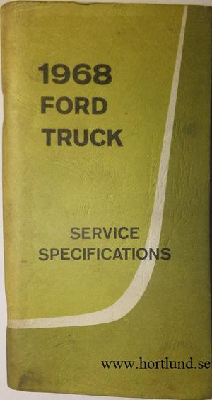 1968 Ford Truck Service Specifications
