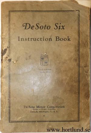 1929 De Soto Instruction Book