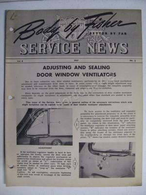 1947 Fisher Service news Vol.8 No.2