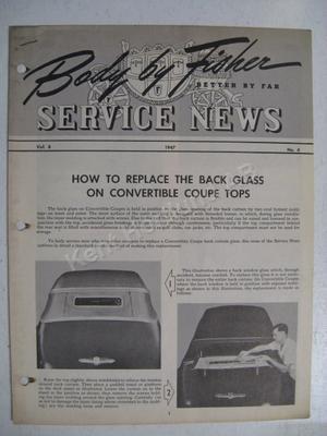 1947 Fisher Service news Vol.8 No.4