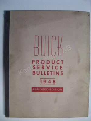 1948 Buick Product service Bulletins