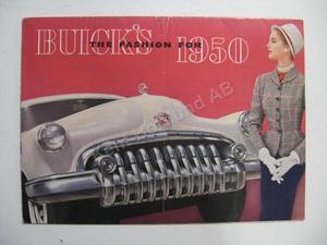 1950 Buick Försäljningsbroschyr