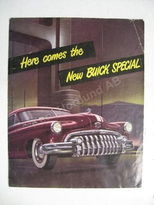 1950 Buick Special Försäljningsbroschyr