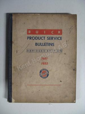 1951-52 Buick Product service Bulletins