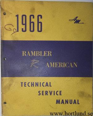 1966 Rambler American Technical Service Manual