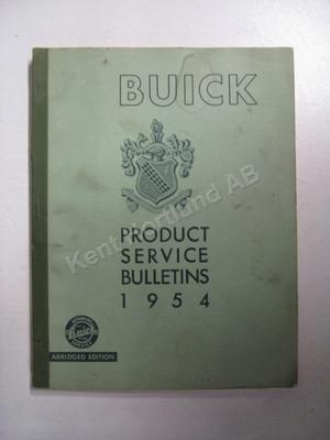 1954 Buick Product Service Bulletins