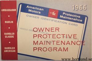1966 AMC Owner Protective Maintenance Program