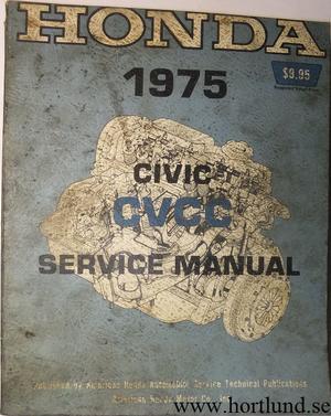 1975 Honda Civic CVCC Service Manual