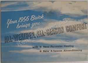 1956 Buick Värme och AC broschyr