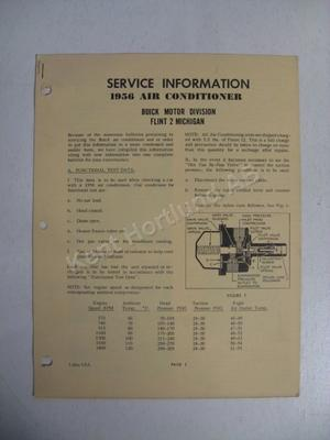 1956 Buick Air Conditioner Service information