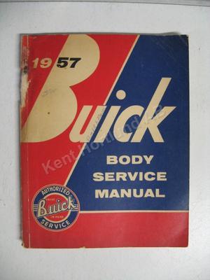 1957 Buick Body Service Manual original
