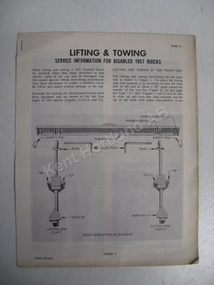 1957 Buick lifting and towing service information