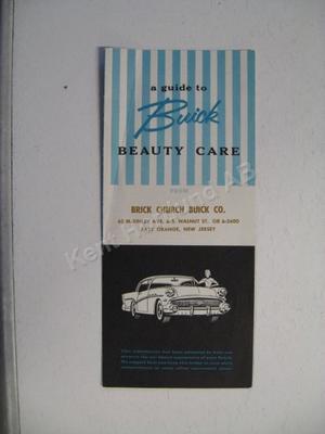 1957 Buick Beauty Care broschyr