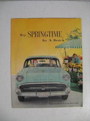 1957 Buick alla modeller Försäljningsbroschyr