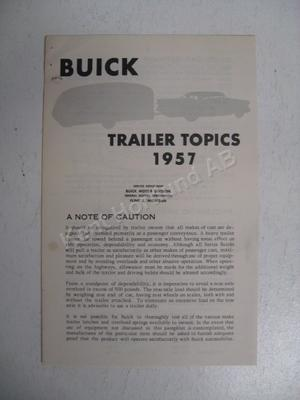 1957 Buick Trailer topics