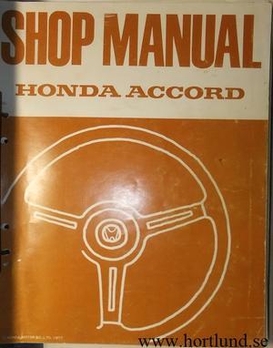 1977 Honda Accord Shop Manual