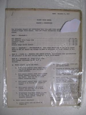 1958 Buick Fligt Pitch Manual Changes & Corrections