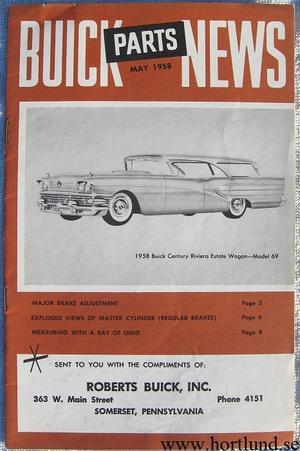 1958 Buick Parts News May 1958