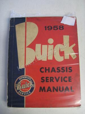 1958 Buick Chassis Service Manual original