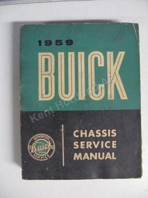 1959 Buick Chassis Service Manual original