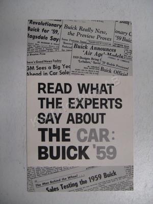 1959 Buick  broschyr Tidningsomdömen
