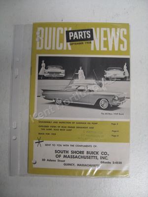 1959 Buick Parts News September