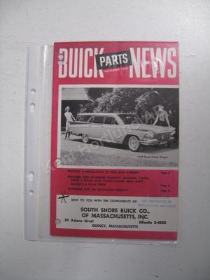 1959 Buick Parts News November 1958