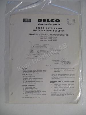 1959 Buick Radio Bulletin