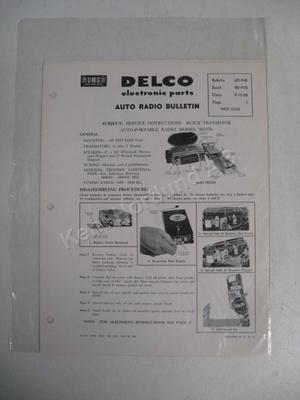 1959 Buick Radio Service Instructions