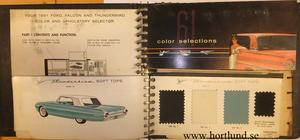1961 Ford Dealer Album Colors and Upholsteries
