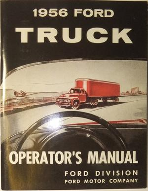 1956 Ford Truck Operator's Manual